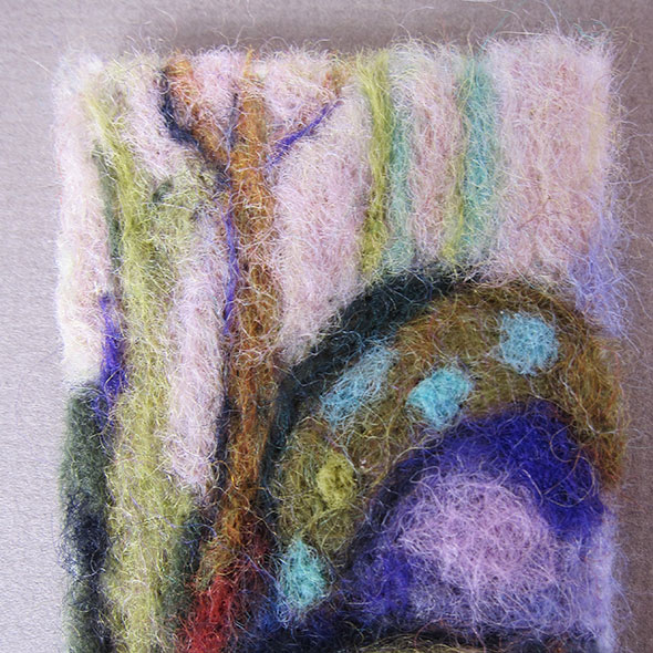 wool landscape by Paula Womacks