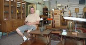 Terry Fox recently opened Atomic Fox in Kings Yard. The new store specializes in mid-20th century furniture.