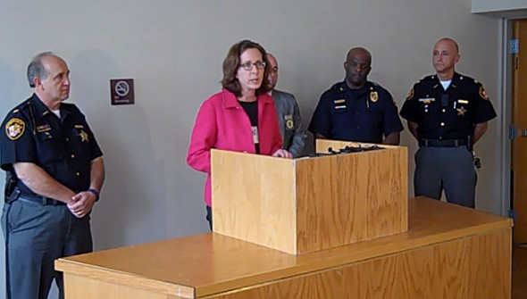 Yellow Springs shootout police joint press conference, held Wednesday, July 31 at 3:30 p.m.