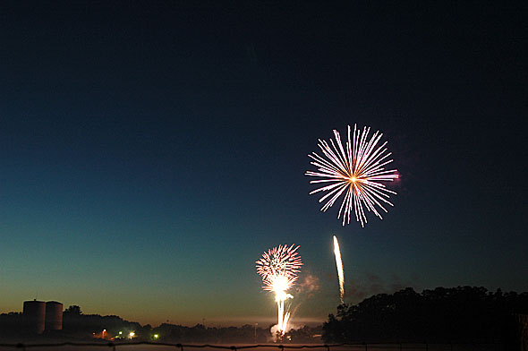 The annual Fourth of July fireworks display, postponed this year due to bad weather, will take place this Saturday, Aug. 31, at 9 p.m. at Gaunt Park.