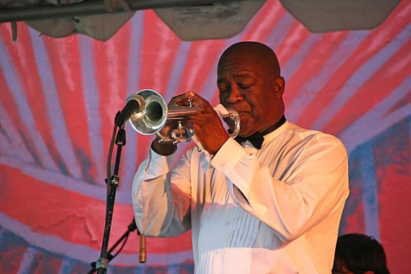 Dean Sims of Springfield and his Satchmo Show will be one of the featured acts at this weekend's Blues Fest, sponsored by the AACW. The event takes place at the Antioch College Amphitheatre.