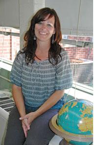 New faces at Mills Lawn School: Shannon Watern, first grade teacher. (Photos by Lauren Heaton)