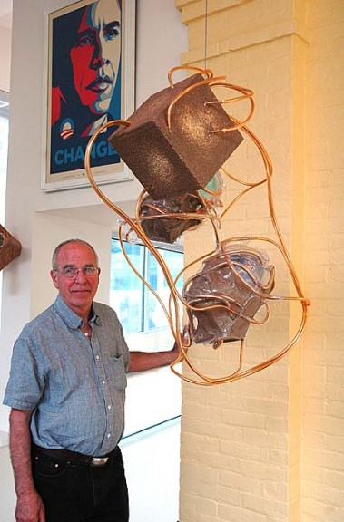 The art collection of Richard Lapedes and Maureen Lynch will be one of seven local collections available for viewing for the Saturday, Sept. 7 Art House Hop, which is a fundraiser for the Yellow Springs Arts Council. (Photo by Anisa Kline)