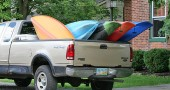 This was 1 of 3 vehicles I saw on Saturday that were transporting kayaks— sure looked like fun!