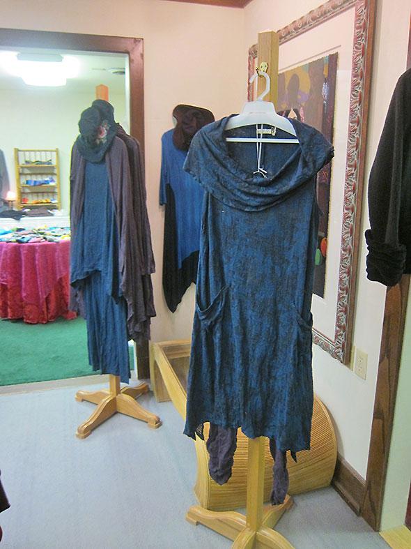 clothes racks at Julia Etta's Trunk