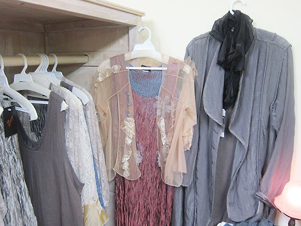 gray duster among other items at Julia Etta's Trunk