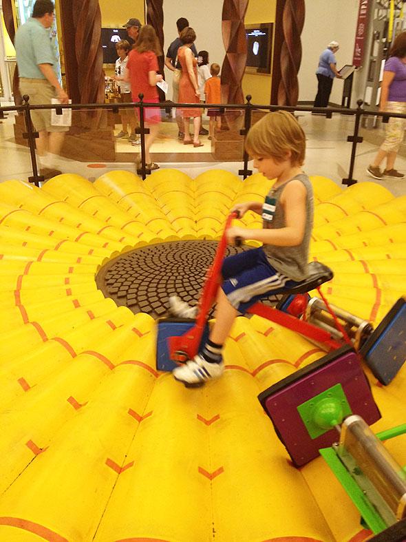 ride the square wheel bike