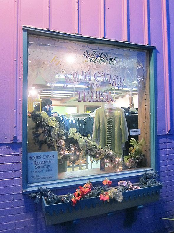 front window at Julia Etta's Trunk