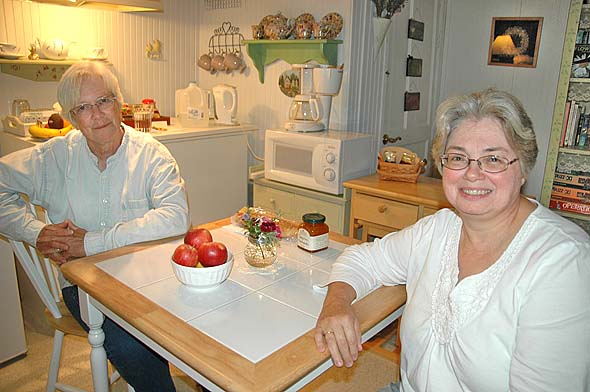 Sharon Benedict and Lisa Quesne are selling their bed and breakfast, Herbs & Lace, in Clifton.