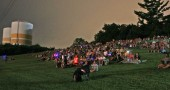 The Gaunt Park hill was the place to be this past Saturday night for the Labor Day fireworks.