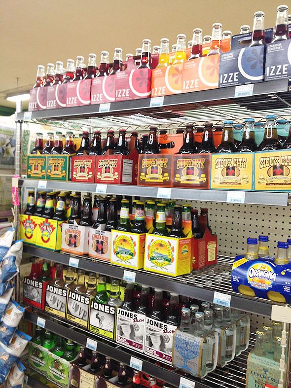 sodas at Tom's checkout