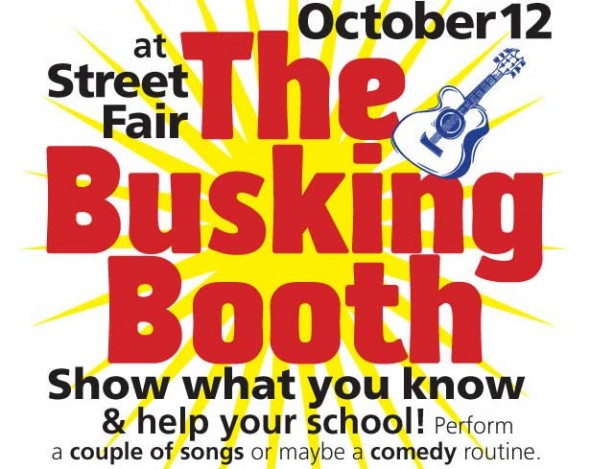 Come to the Mills Lawn School Busking Booth tent this Street Fair weekend and hear some great performances for a great cause.