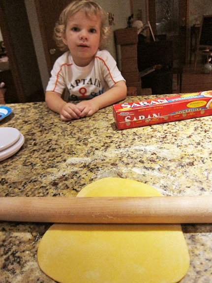 rolling the pasta