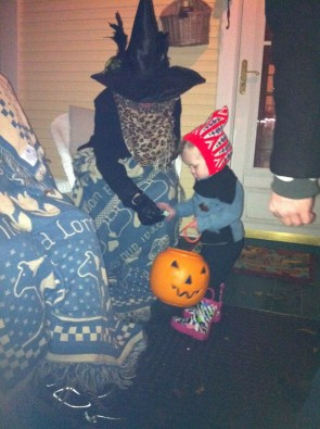 Since cold weather is predicted for Beggars Night, trick or treaters should dress warmly beneath their costumes.