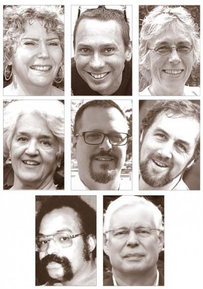 Winners in the 2013 elections are, top row, Village Council: Karen Wintrow,  Brian Housh, Marianne MacQueen; center row, school board: Aïda Merhemic, Evan Scott, Steve Conn; bottom row, Township Trustees: Mark Crockett, John Eastman.