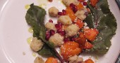 side dish of butternut squash and gnocchi