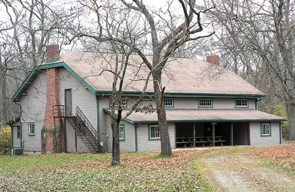 The 3,200-square-foot lodge and the surrounding Girl Scout's Camp Greene, located off of Grinnell Road, could soon belong to the Glen. The Glen Helen Association has applied for grant funding with the Clean Ohio Fund to help purchase and permanently protect the 28-acre camp with a conservation easement.  (Submitted photo)