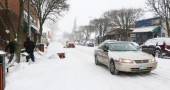 Snowfall of approximately 4 inches in Yellow Springs forced the tww-hour delay of schools. (News filephoto)