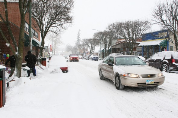 Snowfall of approximately 6 inches in Yellow Springs forced the closure of village schools. (News filephoto)