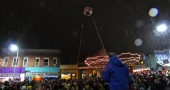 The 2012 ball drop was a great success! (photo by Megan Bachman)