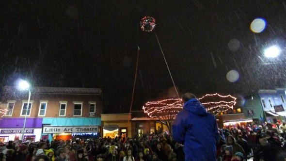 The annual ball drop will return to downtown on Thursday, Dec. 31. (photo by Megan Bachman)