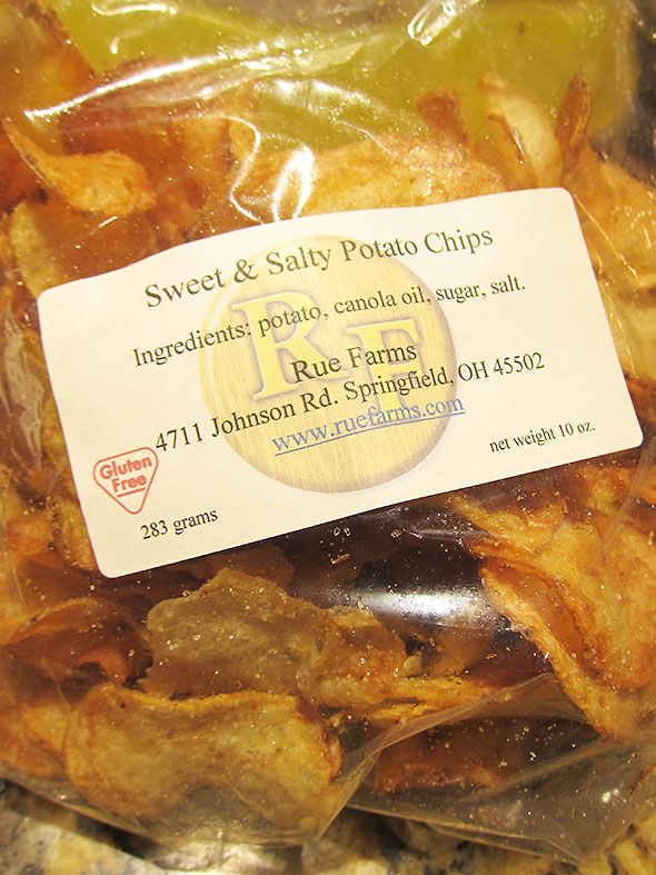 sweet & salty chips from Rue Farms
