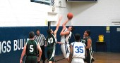 Eighth grade post Tony Marinelli went for a layup against Troy Christian on Dec. 9. The McKinney Bulldog team also lost their Dec. 19 game against Dayton Christian last week; however the McKinney seventh grade team and the YSHS varsity teams won their respective games. (Photo by Megan Bachman)