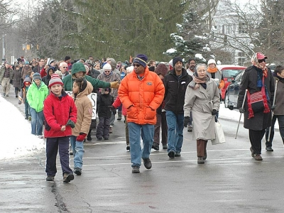Martin Luther King Jr. march and celebration in Yellow Springs, 2014
