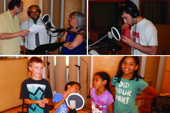 "New app ""My Little AlphaButts,"" created by villagers Mike Fleishman, Joanne Caputo and Max Fleishman, was a true village effort, featuring the vocal talents of Caputo, Benny Vazquez, Shaylee and Nevaeh Smith and Kenji and Tyson Housh. (Submitted photo)"