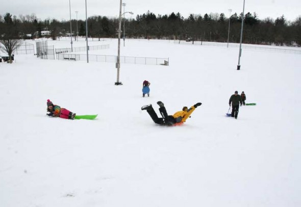 We had the hill to ourselves on Sunday morning! (photos by Suzanne Szempruch)