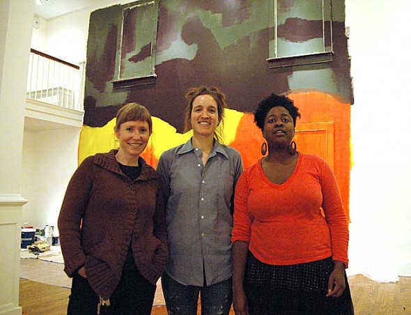 "The Antioch College exhibit ""Currencies"" will end this Friday, Feb. 14, with several performances. Shown above are college arts teachers Sara Black, Raewyn Martyn and Gabrielle Civil, whose work is part of the show."