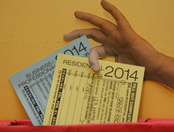 Fill out your yellow residential and/or the blue business cards today and drop it off at the News office.