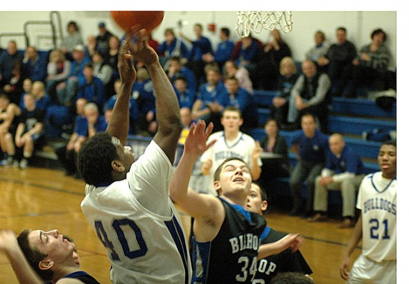 Joe Plumer laid the ball up for two against Bishop Ready.