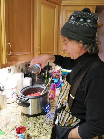 adding tomato