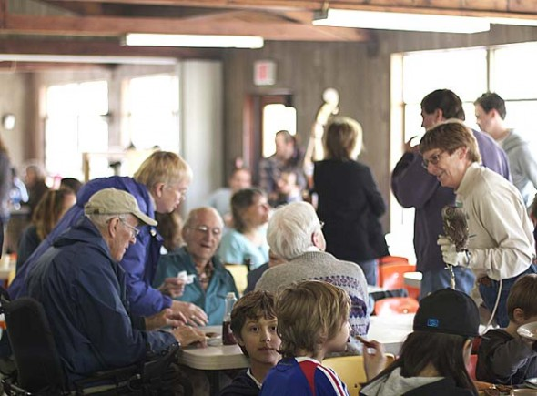 The Glen Helen Annual Pancake Breakfast is back for its 37th inauguration. The event, last held here in 2011, takes place on Saturday, March 8, 10 a.m.–1 p.m. at the Outdoor Education Center. Participants are encouraged to park in the Corry Street lot and join one of the naturalist-led hikes to the OEC starting at Trailside Museum at 9:30 and 10:30 a.m., and coming back at 11 a.m. and 12:30 p.m. (Submitted photo by Brooke Bryan)