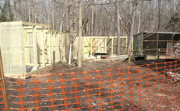The Raptor Center is rebuilding its raptor cages, many of which are over 30 years old and no longer comply with regulations. (Photo by Suzanne Szempruch)