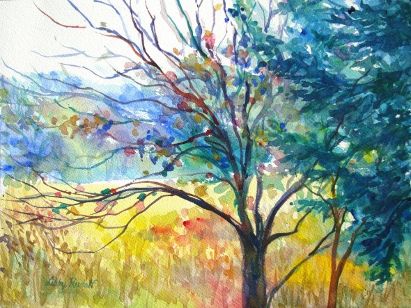 Libby Rudolf paints watercolors, large and small, inspired by the beauty of The Glen Helen Nature Preserve as well as other natural spaces around the country.