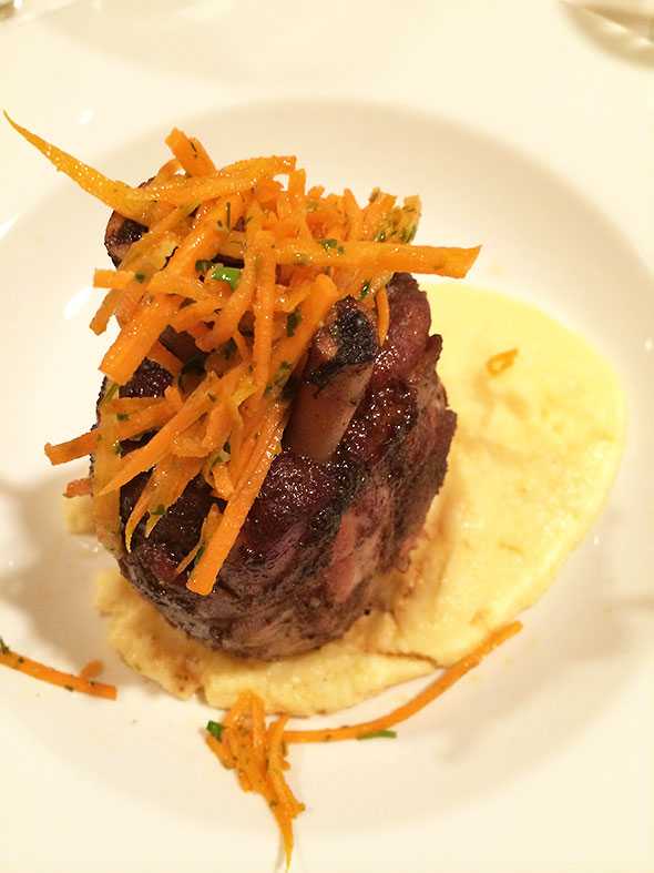 pork shank with polenta