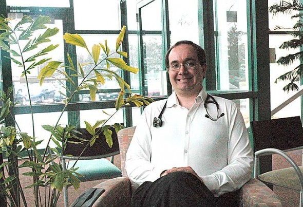 Dr. Donald Gronbeck hopes to open a family practice at the former Creative Memories building. (Photo by Lauren Heaton)