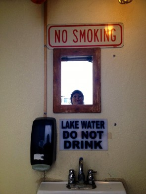 Lake water: not good for drinking, but probably totally okay to wash your hands in.