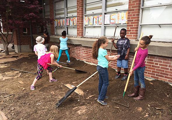 First Grade Garden Project