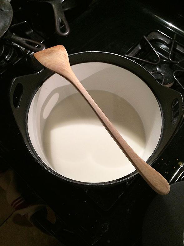 heating milk