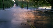 Flooding across YS-Fairfield Road on 5/21/14.