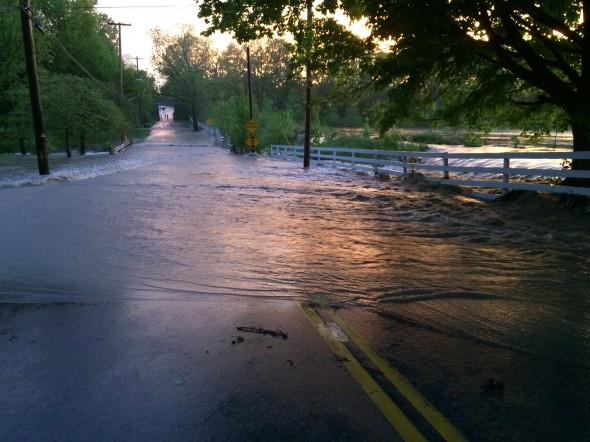 Flooding across YS-Fairfield Road on 5/21/14.