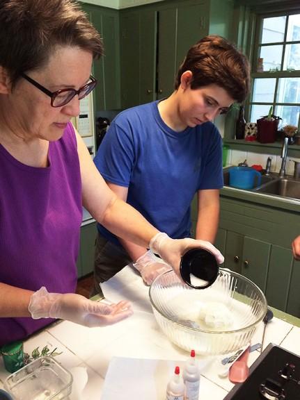 salting the mozzarella