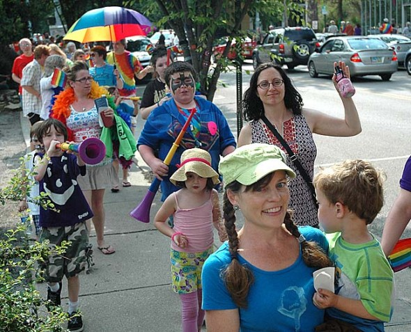 An enthusiastic crowd of villagers took part in last year's Pride parade, which this year takes place downtown at 1:30 p.m. Saturday, June 28.