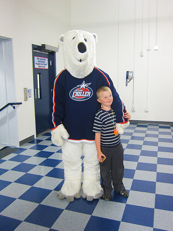 A visit by Chilly Bear