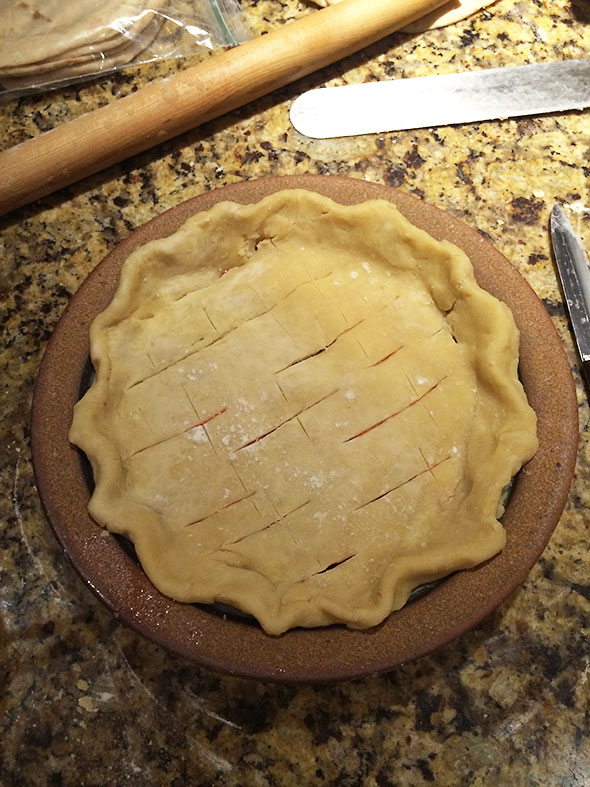 scored pie crust