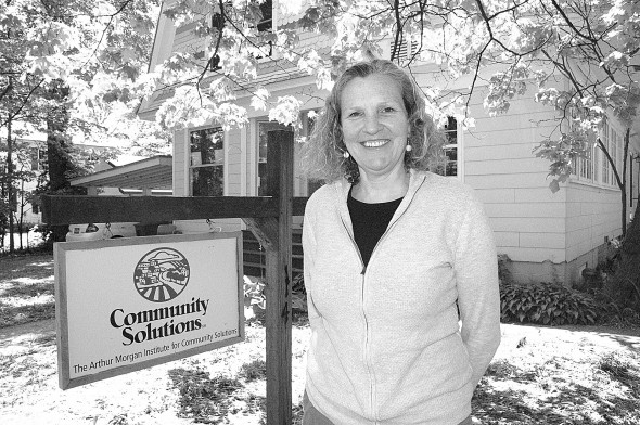 Susan Jennings of Marion, Mass. is the new executive director of the Arthur Morgan Institute, a non-profit organization on East Whiteman Street that promotes solutions to global climate change. (Photo by Megan Bachman)