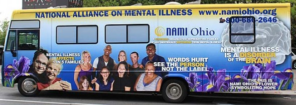 "The ""NAMImobile,"" a traveling educational bus to fight stigma of mental illness visits the Yellow Springs Village BP at the corner of U.S. 68 and Corry Street from 11 a.m. to 12:30 p.m. Tuesday, July 22. The event is hosted by the National Association on Mental Illness Yellow Springs affiliate. (Submitted photo)"